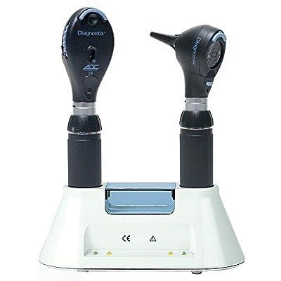 ADC Diagnostix 3.5v Desk Set, Otoscope/ Coax Ophthalmoscope, Black
