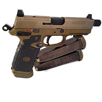 在庫販売 TALON GRIPS ピストルグリップ滑り止め ハンドガングリップ 米国製 タロングリップ (ラバーブラック, FN FNX-45(small,ストレートグリップ用))