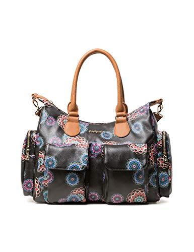 Desigual Damen Bag Mandri London Women Schultertasche Schwarz (Negro)