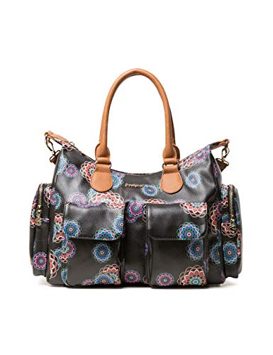 Desigual Bag Mandri London Women - Borse a spalla Donna, Nero (Negro),...