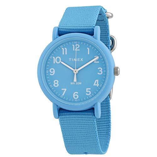Timex Weekender Quartz Blue Dial Watch TW2R40600