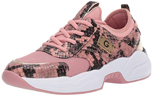 G by Guess Women's Shoes Jimmi Low Top Lace Up Fashion Sneakers, Pink, Size 9.5