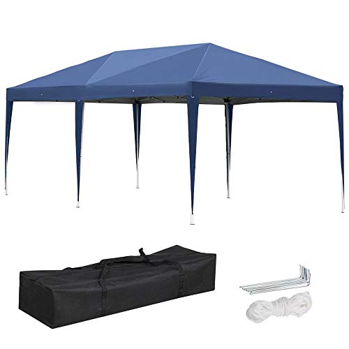 Yaheetech 10ft X 20ft Outdoor Easy Pop up Canopy - Heavy Duty Gazebo Pavilion for Party Wedding Events BBQ
