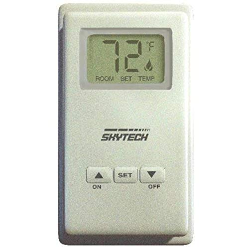 Skytech 9800332 TS/R-2 Wireless Wall Mounted LCD Fireplace Remote Control Thermostat