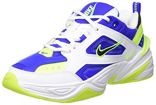 Nike M2K Tekno, Zapatillas de Trail Running Hombre, Multicolor (White/Black/Volt/Racer Blue 105), 42 EU