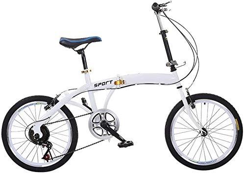 CHENXU Bicicleta para Niños y Niñas Marco de Acero de la Bici de la Bicicleta del niño Niños pequeña Princesa Style de 20 Pulgadas con la Rueda de formación (Blanco, 20 Pulgadas)