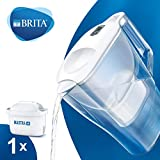 BRITA Aluna Fridge water filter jug for reduction of chlorine, limescale and impuities, White, 2.4L