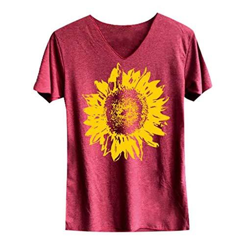 Camisetas para Mujer,Riou Sexy Halter sin Mangas Boho Camisola Top de Mujer con Estampado Casual Camisa de Verano Moda 2019 Barata Blusa Tops para Primavera Verano