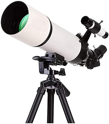 MWKL Telescopi Professionali per Principianti di Astronomia, Specchio Zenit eretto a 45 Gradi, Diametro Grande 80 mm, cercatore 5x24, telescopio per Bambini con Zaino A
