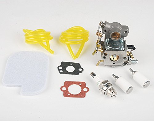 Beehive Filter Carburateur C1M-W26 with Fuel Line Filter Tune-up Kit Air Filter 530057925 for Poulan P3314 P3416 P3816 P4018 PP3416 PP3516 PP3816 PP4018 PP4218 PPB3416 PPB4018 PPB4218 S1970 Power Gas Chainsaw