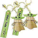 wopin 2 pcs YODA Keychain Figure Keyring Cute Cartoon YODA Figure Pendant Model Dolls Kids Gift Toy ...