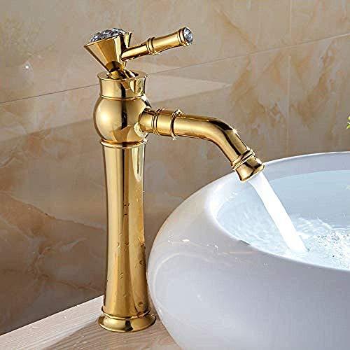 shuip Wasserhahn/Badausstattung Moderne Toiletten mit Wasserhahn Vergoldung Aufgesetzte Wannenmischbatterien Ausführung in Schwarz mit High Diamond Badewannenarmatur