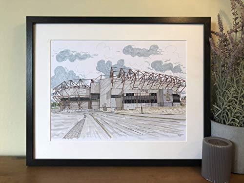 Bradford City FC - Valley Parade Stadium - The Bantams - Print - Wall Art - English Football - Football Art - Footy Fans - Poster