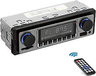 Autoradio Bluetooth, Vintage Poste Radio Voiture Bluetooth 4x60W Lecteur MP3 avec Télécommande Supporte USB/AUX