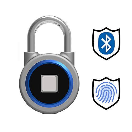 Candado de Bluetooth y Huella Dactilar, Touch Sensor Accurate Identifi