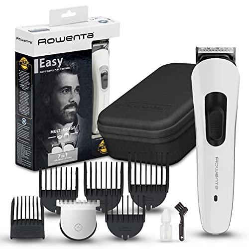 Rowenta multiaccesorios Multistyle 7 en 1 TN8931 Cuchillas autoafilables para cabello y barba, uso inalámbrico o con cable, autonomía de 60 min, cuchillas lavables
