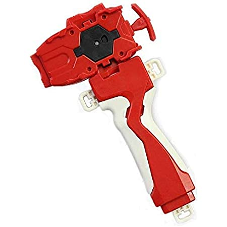 Red Beyblades Launcher and Grip Battling Burst Light Sparking String Launcher Gyro Right Spin Top
