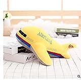 JrenBox Juguetes para niños, juguete de peluche de simulación creativa, color plano de bebé, juguete de peluche para regalo de cumpleaños de Navidad (color amarillo, altura: 40 cm)