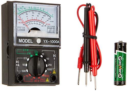 Electraline 59003 Multimetro Pinza Amperometrica Digitale Misuratore Autoregolabile Senza Contatto di Tensione Multi Tester di AC DC Tensione & Corrente Resistenza Capa, Multicolore