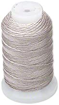 Simply Silk Beading Thread Cord Size F Grey 0.0137 0.3480mm Spool 140 Yards for Stringing Weaving Knotting