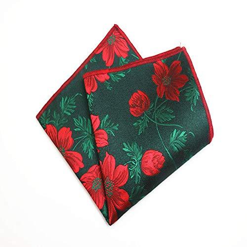 SKYyao Pañuelo de Bolsillo Patrón de pañuelo de la Bufanda de los Hombres del pañuelo de Bolsillo Traje Vestido Pecho Bufanda Rayas Nuez de la India Seda Poliester 24 * 24cm