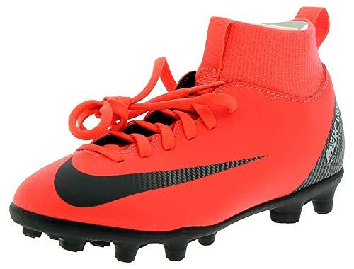Nike Jr Superfly 6 Club Cr7 Fg/MG, Scarpe da Calcio Unisex-Adulto, Multicolore (Bright Crimson/Black/Chrome 0), 37.5 EU