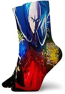 Rincvo, Anime One-Punch Man Saitama Anime Hombre Senderismo Calcetines para Caminar Wicking Cushion Crew Calcetines