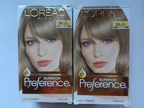 L'Oreal Superior Preference - 8A Ash Blonde (Cooler) 1 Each (Pack of 2)