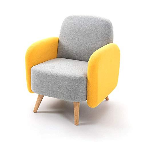 QWEA Accent Sofá, sillón tapizado, sillón de Tela de Lino, sofá Individual, Terciopelo, cómodo sillón, sillón Lateral para Sala de Estar, Dormitorio, Club, Oficina