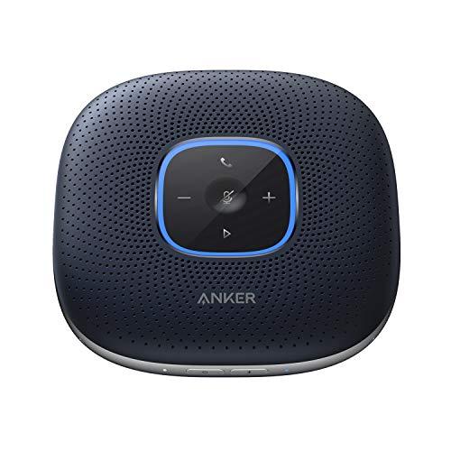 Anker PowerConf スピーカーフォン 会議用 マイク Bluetooth 対応 Skype Zoom など対応 24時間連続使用 USB-C接続 オンライン会議 テレワーク 在宅 会議用システム ウェブ会議 テレビ会議 ビデオ会議(ネイビー:メタリック)