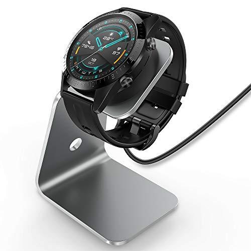 TUSITA Caricatore Compatibile con Huawei Watch GT, GT2, GT 2e, Honor Watch Magic, Magic 2 - Supporto di Ricarica Cavo USB in Alluminio 5 Piedi 150cm - Accessori per Tracker Fitness