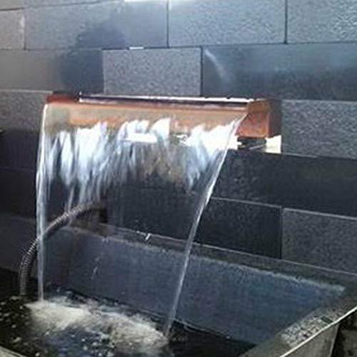 garten-wohnambiente Wasserfall 60 cm incl. LED-Beleuchtung aus Cortenstahl (Roststahl) Wasserauslauf