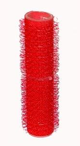 Herramientas para el cabello se adhieren a rodillos para el pelo, color rojo pequeño, 13 mm x 12