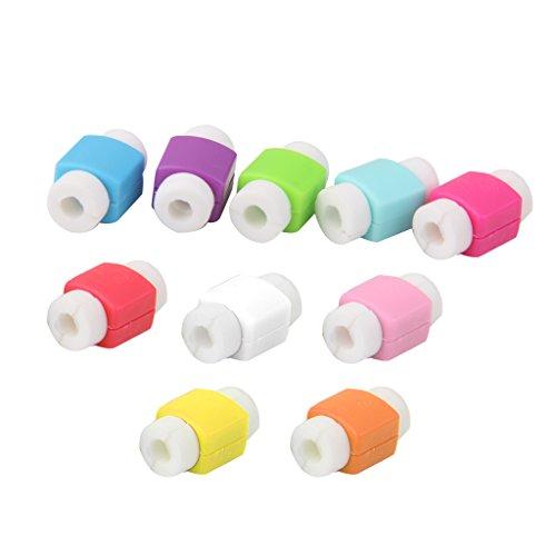 Desconocido 10x Cubiertas Protectores de Cable Ahorro de Cargador USB para iPhone iPad Charger Cord