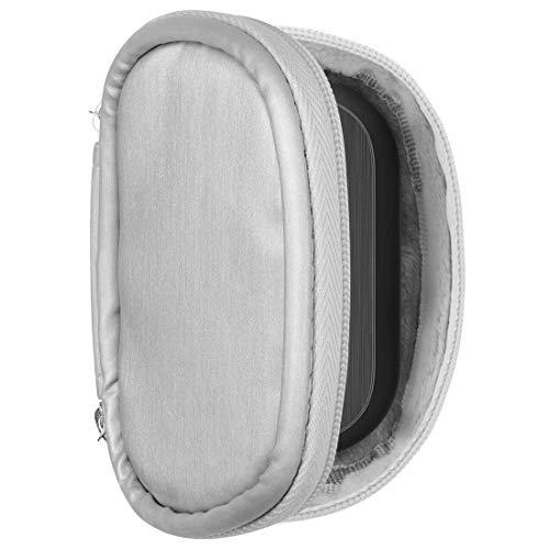 Geekria - Custodia morbida compatibile con Panasönic Technics EAH-AZ70W True Wireless in-ear, custodia di ricambio rigida da viaggio con custodia per cavi (argento)