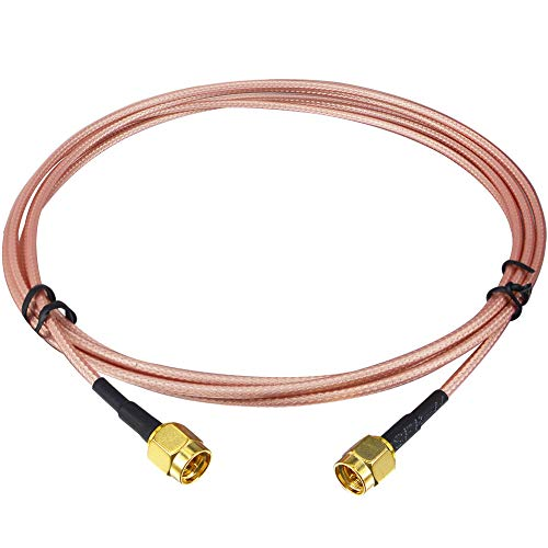 Kaunosta Cable SMA de 6,5 pies SMA macho a SMA macho Cable de extensión coaxial RF para la entrada de la antena del sistema de seguridad Cable puente RG316