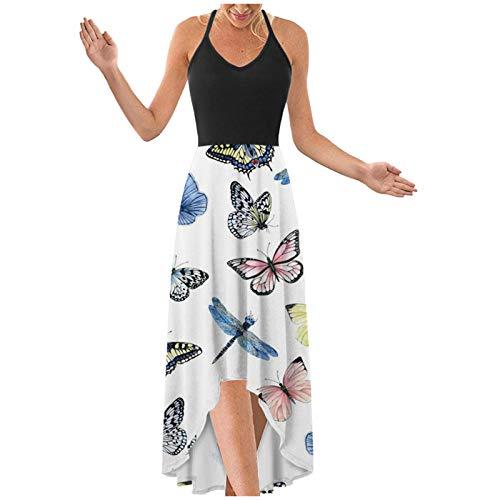QiFei Sommerkleid Damen Backless cool...