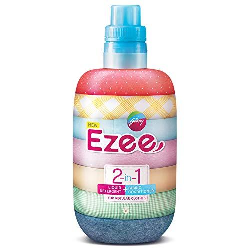 Godrej Ezee 2-in-1 Liquid Detergent + Fabric Conditioner (Fabric Softener) - 1kg, For Regular Clothes