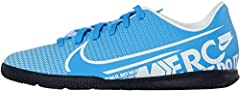 Nike JR Vapor 13 Club IC, Botas de fútbol Unisex niño, Multicolor (Blue Hero/White/Obsidian 414), 38.5 EU