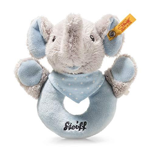 Steiff 241710 Trampili Elefant Greifring 13, Stoffspielzeug, grau