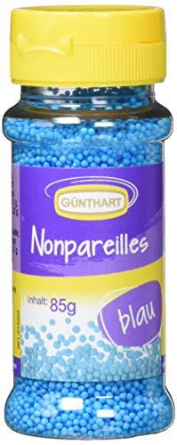 Günthart Streudekor Zucker Nonpareillies blau, 4er Pack (4 x 85 g)