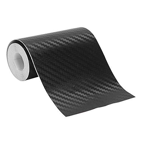 MAJFK Protector de umbral de la puerta del coche, protector de parachoques para el umbral de la puerta del coche, protector universal de fibra de carbono, negro de carbono