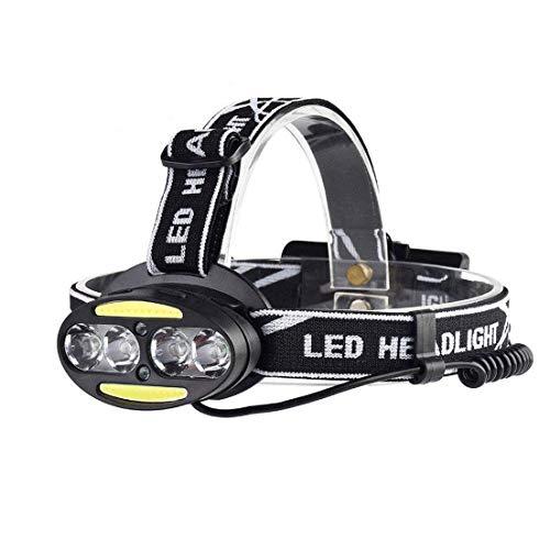 LKNJLL 15000 lúmenes LED Linterna Linterna Super Brillante Al Aire Libre Apareado de COB Sensor de COB Fights T6 Recargable, Adecuado para Correr, Caminar, Acampar, Leer, Senderismo