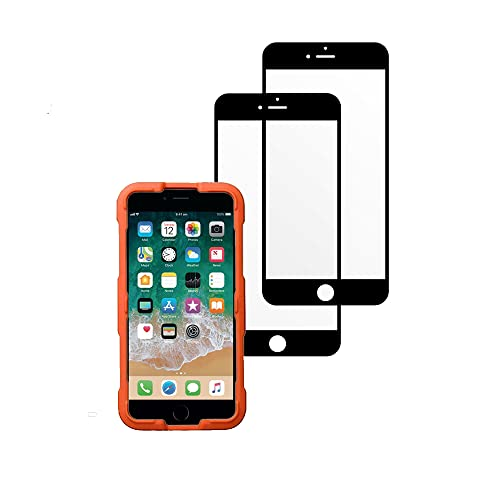 ultrapower100 Screen Protector Shatterproof Compatible for iPhone 7 Plus/8 Plus Full Coverage Premium Tempered Glass Film 2 Pack Anti-Shatter Black