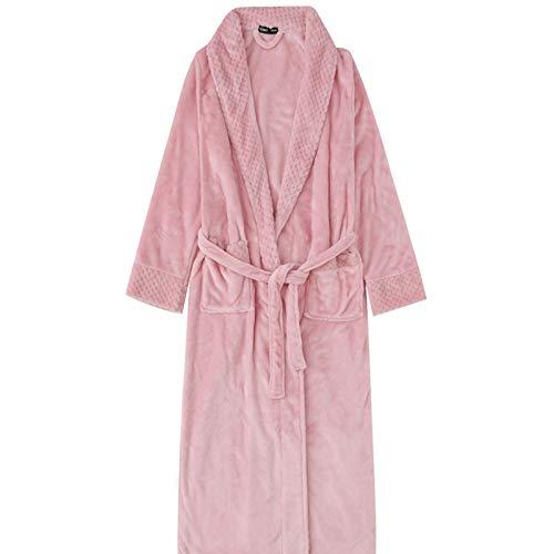 ZHZHUANG Pijamas para Hombre para Mujer Vestido de Vestir Túnicas para Mujer Damas con Cuello en V Bañera de Punto de Noche Ropa de Dormir Suave, Vestido para Hombre Vestido Largo Túnica Plus Size Ta