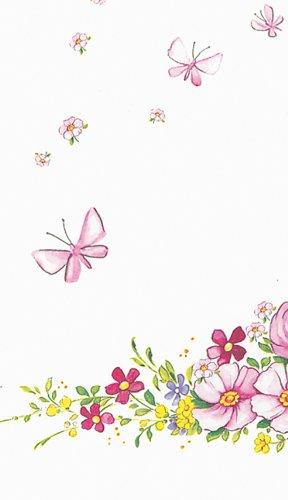 Mitteldecken Cute Flowers – Hübsche Blumen/Frühling/Schmetterlinge aus Airlaid 80x80cm