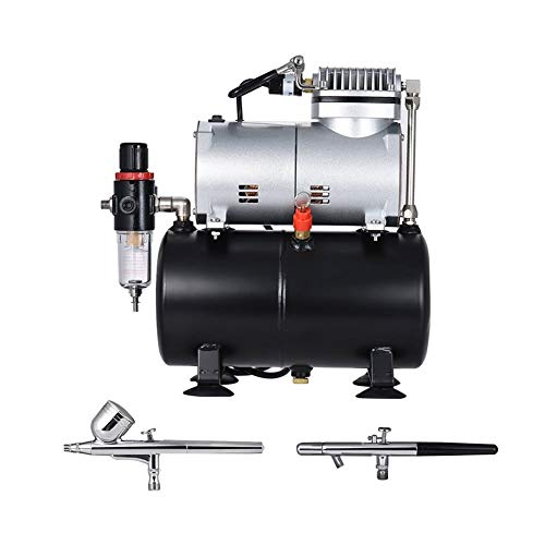 Spray Gun Kit met Dual-action Gravity Feed Airbrush& Suction Feed Airbrush Professionele Airbrush Air Compressor Kunst en Ambachtelijke Projecten