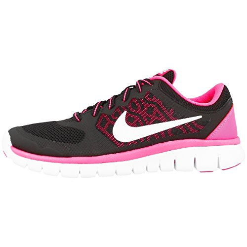Nike Flex 2015 RN (GS), Zapatillas de Running Mujer, Negro/Blanco/Rosa (Black/White-Pink Pow), 37.5 EU