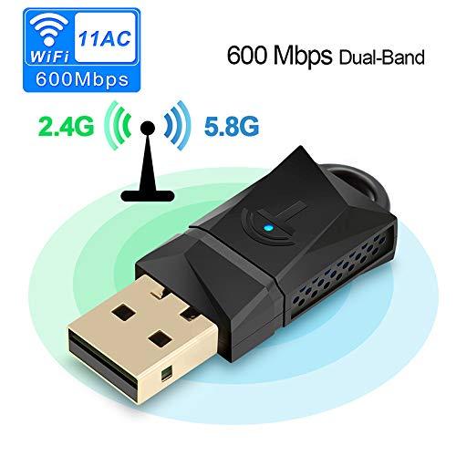 IOIOA Dual-Band Wireless WiFi Adapter 150/300/600 Mbps Wireless USB WiFi Adapter MT7601 / RTL8188CU Wi-Fi Receiver Dongle 2.4G 5GHZ für PC Windows/MAC OS/Linux