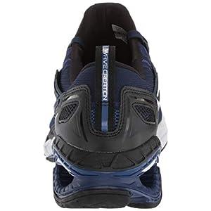 Mizuno mens Wave Creation 20 Knit Running Shoe, Dress Blue-black, 8.5 US